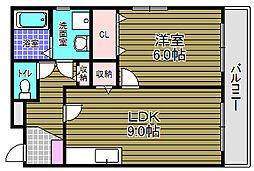 南海高野線 萩原天神駅 徒歩24分の賃貸マンション 1階1LDKの間取り