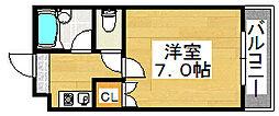 メゾンサイプレスI[2階]の間取り
