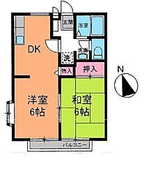 ペニーレイン[2階]の間取り