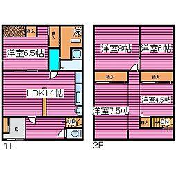 [一戸建] 北海道石狩郡当別町太美町 の賃貸【/】の間取り