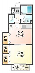 ガーデンテラス国立D棟[1階]の間取り