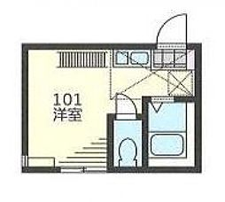 CREA横浜[201号室号室]の間取り