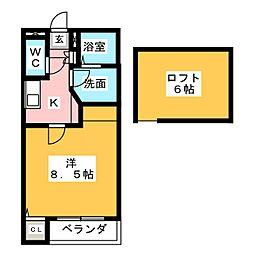 愛知県名古屋市西区万代町1丁目の賃貸アパートの間取り