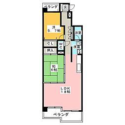 ダイアパレス東白壁A棟606号[6階]の間取り