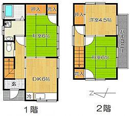 [一戸建] 千葉県松戸市和名ケ谷 の賃貸【/】の間取り