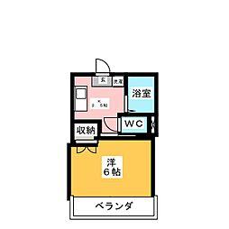 フローラルカワイ[2階]の間取り
