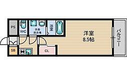 アーバンフラッツ新大阪2[5階]の間取り