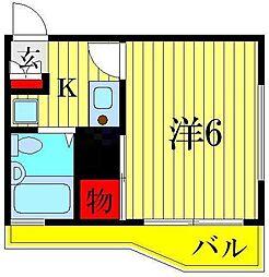 ルベル青戸[2階]の間取り
