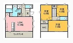 [一戸建] 徳島県徳島市住吉3丁目 の賃貸【/】の間取り