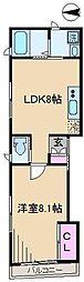 東京都荒川区西尾久6丁目の賃貸アパートの間取り