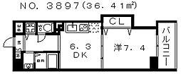 コード ナチュレ[202号室号室]の間取り