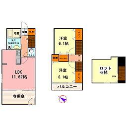 [テラスハウス] 東京都葛飾区四つ木4丁目 の賃貸【/】の間取り