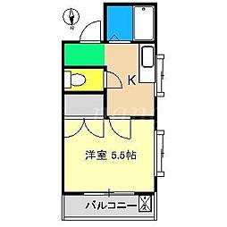 コーポあゆみII[3階]の間取り