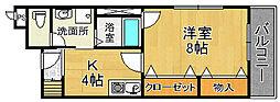赤井マンション[3階]の間取り