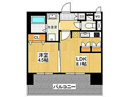 ミリオンコンフォート新今里[7階]の間取り