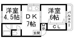 ファミール三井[0102号室]の間取り