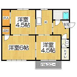 赤澤マンション[3階]の間取り