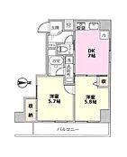 2DK 専有面積:40.02平米 リノベーション済みのマンション