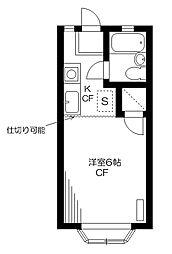 メゾンブラン高橋[102号室]の間取り