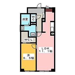 リッチ・クレールマンション[1階]の間取り