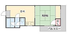 兵庫県神戸市灘区六甲台町の賃貸アパートの間取り