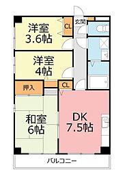 LEGEND戸塚[3階]の間取り