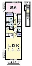 セントラーレパルク弐番館[205号室号室]の間取り