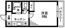 東京都立川市柏町2丁目の賃貸マンションの間取り