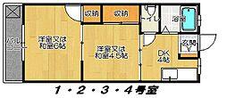 大東マンション[202号室]の間取り