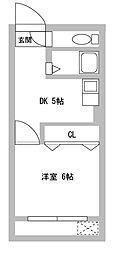 福田マンション[3階]の間取り