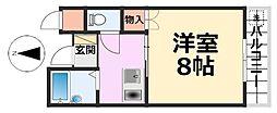 サニーグレース114[4階]の間取り
