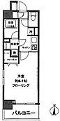 南西角部屋。バス(1166) トイレ独立
