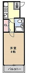アトレ万寿寺[2C号室号室]の間取り