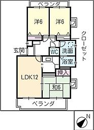 アーバンライフIII[3階]の間取り