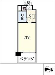 ダイアパレス新出来402号室[4階]の間取り