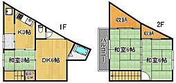 松浪アパート[1階]の間取り