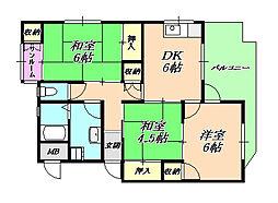 霞ヶ丘マンション[2階]の間取り