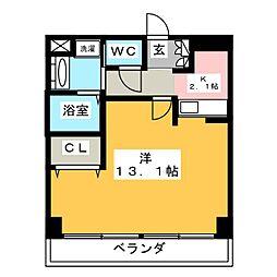 プレミアムキャッスル鶴舞[4階]の間取り