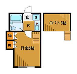 東京都小平市津田町3丁目の賃貸アパートの間取り