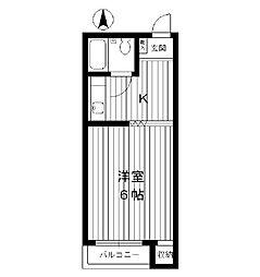 東京都練馬区羽沢の賃貸アパートの間取り