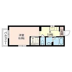サニーコート坂井[1階]の間取り