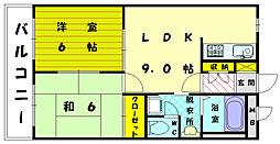福岡県福岡市東区三苫5丁目の賃貸アパートの間取り