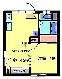 ユニバース7[1階]の間取り