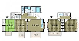 [一戸建] 神奈川県川崎市麻生区上麻生4丁目 の賃貸【/】の間取り
