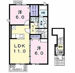 コモドフォレスタ8[2階]の間取り