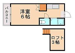 エクセル西片江I[1階]の間取り