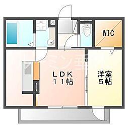 仮 別所町D-room[1階]の間取り