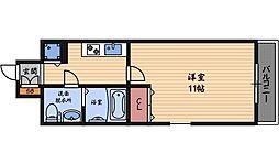セレブコート梅田[2階]の間取り