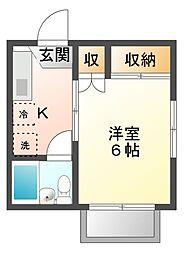 サマックスケーユー[2階]の間取り
