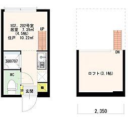 Stage 北新宿[102号室号室]の間取り